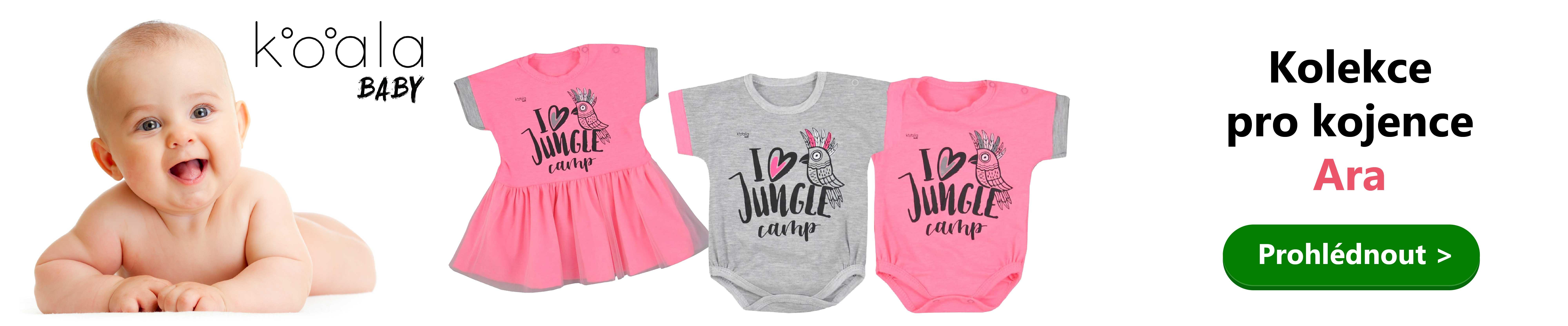 4243aacf87fe Krásná módní kolekce kojeneckého oblečení pro holčičky Koala ARA. Veselý  papoušek a nápis zdobí jednotlivé věcičky a kvalitní materiál zajistí  pohodlíčko po ...
