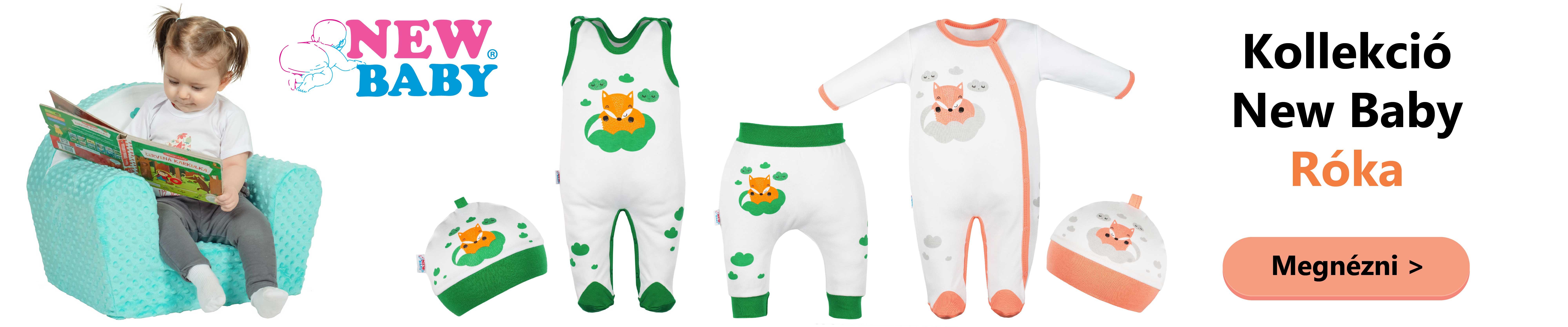 1007beb6af A New Baby márka újabb kényelmes és praktikus kollekcióval jelentkezik. A  Róka kollekció puha, gyengéd pamutból készült, és játékos képpel van  díszítve, ...
