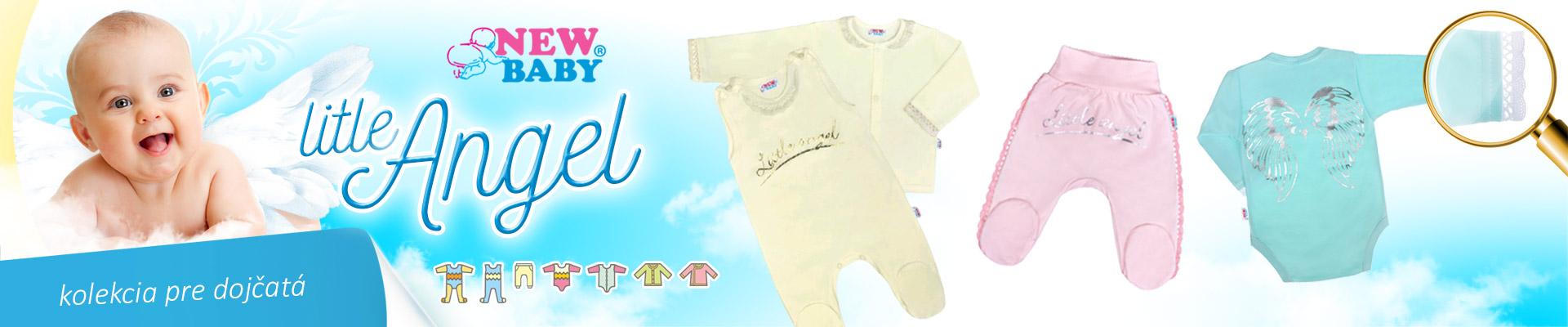 9421276b7595 Značka New Baby vyčarovala novú nebeskú kolekciu Angel. Kúzlu kolekcie  Angel podľahnete veľmi ľahko. Elegantné a štýlové dojčenské oblečenie Angel  dodá ...