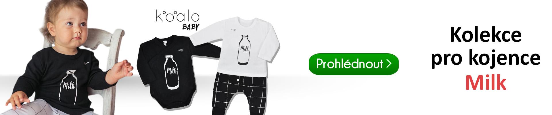 799dfcb8c5d Krásná módní kolekce kojeneckého oblečení Koala Milk. Tato kolekce je  speciálně navrhnuta z příjemných a praktických materiálů