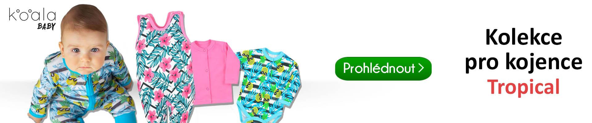 0c7e85ed649 Módní kolekce kojeneckého oblečení Tropical od značky Koala pro naše  nejmenší s hravým a veselým motivem. Rodiči je toto oblečení velmi oblíbené  pro svůj ...