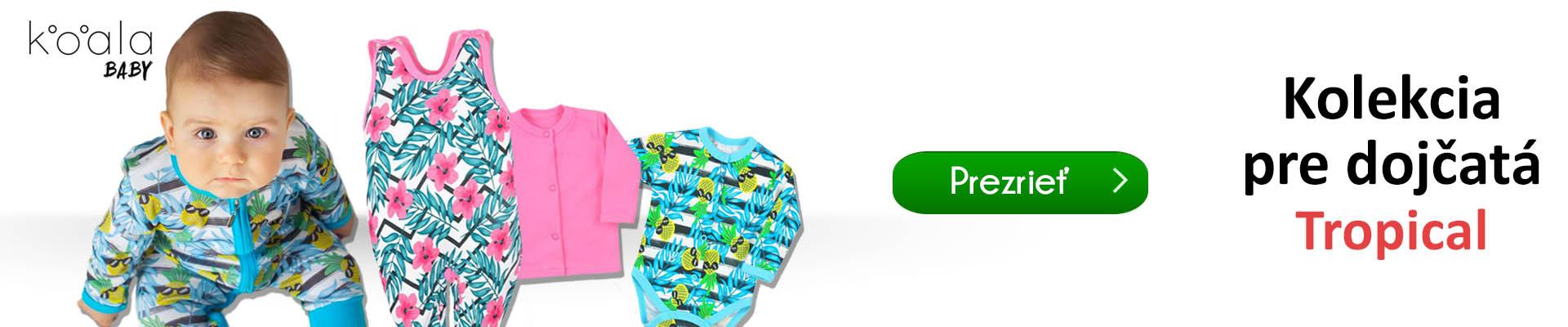 e6446f29979a Módna kolekcia dojčenského oblečenia Tropical od značky Koala pre našich  najmenších s hravým a veselým motívom. Rodičmi je toto oblečenie veľmi  obľúbené pre ...